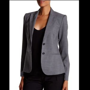 NWT Theory Nichelle Blazer Light Nickel Wool Sz 2